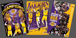 COMBO: Los Angeles Lakers 2020 NBA Champions 3-Poster Combo Set