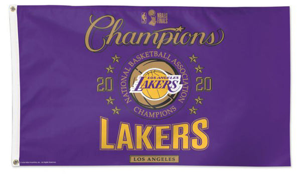 Los Angeles Lakers 2020 NBA Champions Official Commemorative DELUXE 3'x5' FLAG - Wincraft