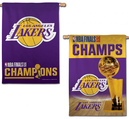 Los Angeles Lakers 2020 NBA Champions Commemorative Wall Banner Flag (28x40 2-Sided) - Wincraft Inc.