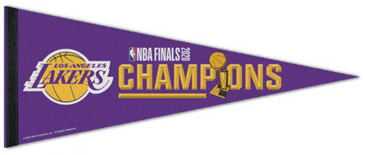 *SHIPS 10/23* Los Angeles Lakers 2020 NBA Champions Official Premium Felt Commemorative Pennant - Wincraft Inc.