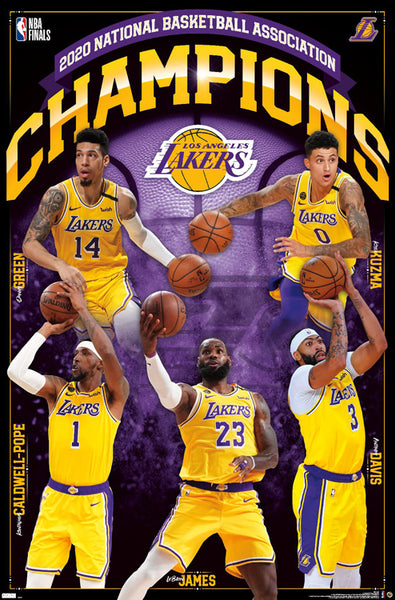 *SHIPS 10/26* Los Angeles Lakers 2020 NBA Champions Official Commemorative Poster - Trends International