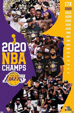 Los Angeles Lakers 2020 NBA Champions CELEBRATION Commemorative Poster - Trends International