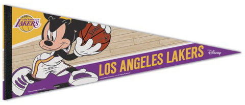 "Los Angeles Lakers ""Mickey Mouse Point Guard"" Official Disney NBA Premium Felt Collector's Pennant - Wincraft Inc."