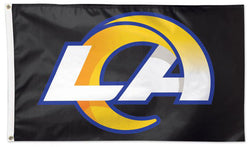 Los Angeles Rams LA Logo-Style Giant NFL Football Deluxe 3'x5' FLAG - Wincraft 2020