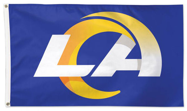 Los Angeles Rams LA-Logo-Style-On-Blue NFL Football Deluxe 3'x5' FLAG - Wincraft 2020