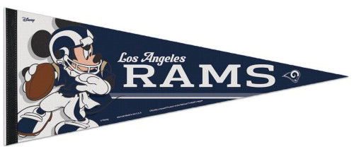 "Los Angeles Rams ""Mickey QB Gunslinger"" (Blue-and-White) Official NFL/Disney Premium Felt Pennant - Wincraft Inc."