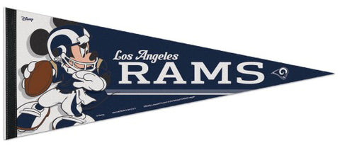 "Los Angeles Rams ""Mickey QB Gunslinger"" Official NFL/Disney Premium Felt Pennant - Wincraft Inc."