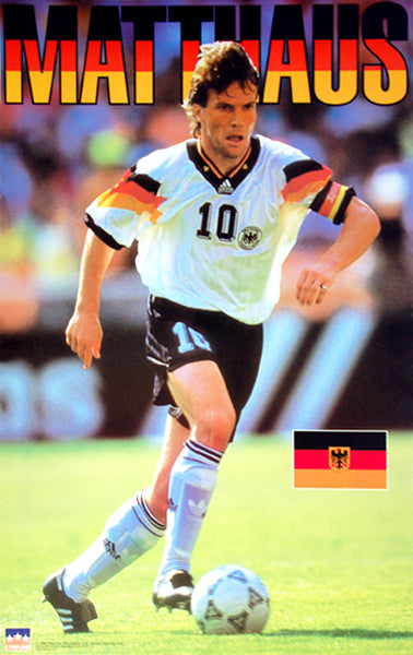 Lothar Matthaus Team Germany World Cup 1994 Football Soccer Poster - Starline Inc.