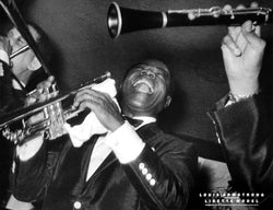 "Louis Armstrong ""Joy"" (1955) Classic Jazz Music Poster Print - Photography by Lisette Model"