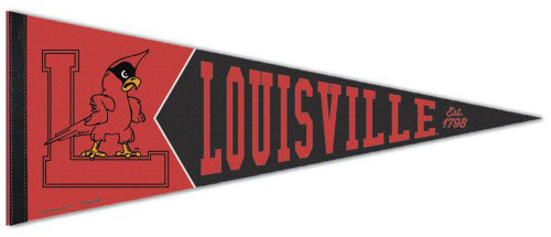 Louisville Cardinals NCAA College Vault 1950s-Style Premium Felt Collector's Pennant - Wincraft Inc.