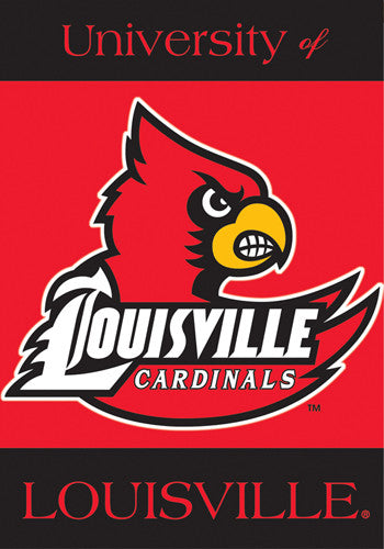 University of Louisville Cardinals Official NCAA 28x40 Premium Team Banner - BSI Products