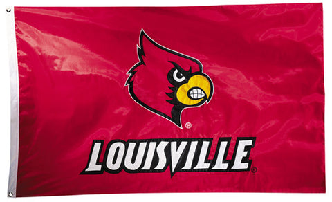 Louisville Cardinals Official NCAA Premium Nylon Applique 3'x5' Flag - BSI Products Inc.