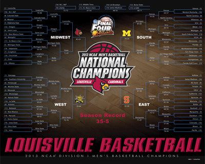 "Louisville Cardinals ""Bracketology"" 2013 National Champions Commemorative Print"