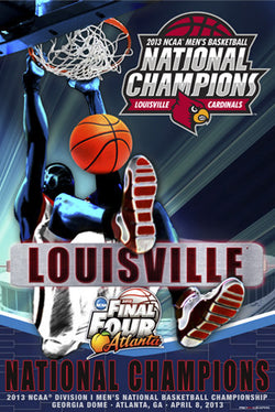 Louisville Cardinals NCAA Men's Basketball Final Four 2013 Championship Poster
