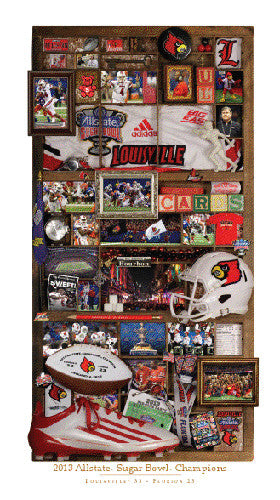 "Louisville Cardinals Football 2013 Sugar Bowl Champions ""Memories"" Print - SmashGraphix"