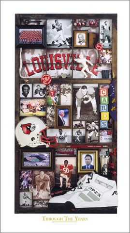 "Louisville Cardinals Football ""Through the Years"" Premium Poster Print - Smashgraphix Inc."