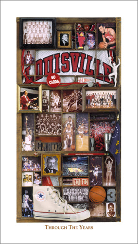 "Louisville Cardinals Basketball ""Through the Years"" Premium Poster Print - Smashgraphix Inc."