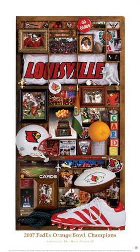 "Louisville Football 2007 Orange Bowl Champs ""Memories"" - Smashgraphix Inc."