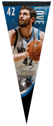 "Kevin Love ""Signature Series"" NBA Premium Felt Collector's Pennant (2012-13) - Wincraft"