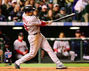 "Mike Lowell ""World Series Bash"" (2007) Boston Red Sox Premium Poster Print - Photofile 16x20"