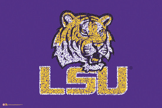 LSU Tigers Fight Song Logo Poster - L.A. Pop Inc.