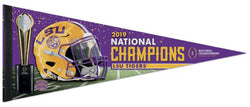 LSU Tigers 2019 NCAA Football National Champions Premium Felt Collector's Pennant - Wincraft Inc.