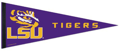 LSU Tigers NCAA Team Logo Premium Felt Collector's Pennant - Wincraft Inc.