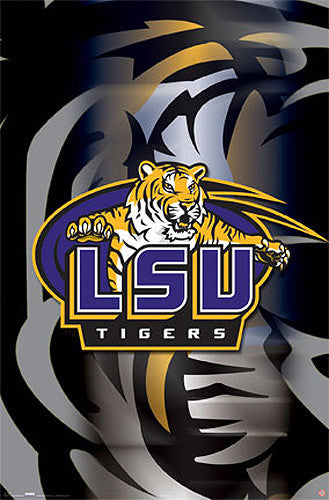 LSU Tigers Official NCAA Team Logo Poster - Costacos Sports
