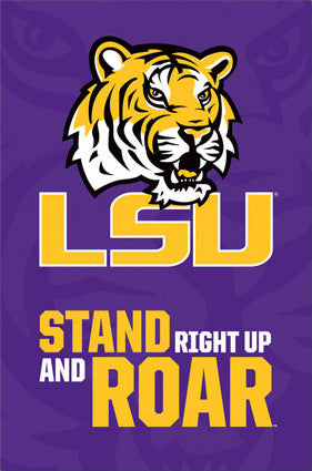 "Louisiana State University Tigers ""Roar"" Official NCAA Logo Poster - Costacos 2013"