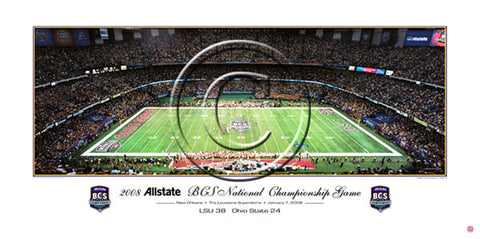 LSU Tigers 2008 BCS Game Night Panoramic Poster Print - Rick Anderson