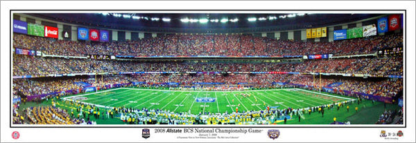 LSU Tigers BCS Championship Game 2008 vs. Ohio State Panoramic Poster Print - Everlasting Images