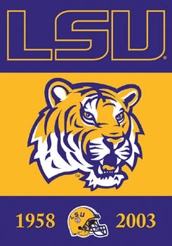 "LSU Tigers ""2-Time Champions"" Banner - BSI Products"