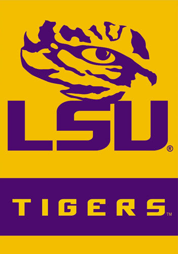 "Louisiana State University LSU Tigers ""Tiger Eye"" Official 28x40 Premium Team Banner - BSI Products"