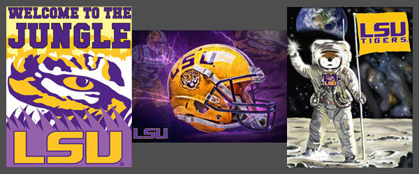 "LSU Tigers ""Football Spirit"" 3-Poster Combo Set - Team Spirit Posters"