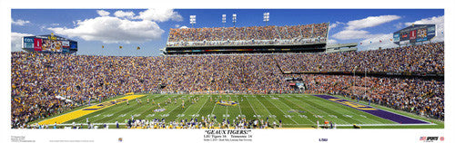 "LSU Football ""Geaux Tigers!"" Panoramic Print - USA Sports 2010"