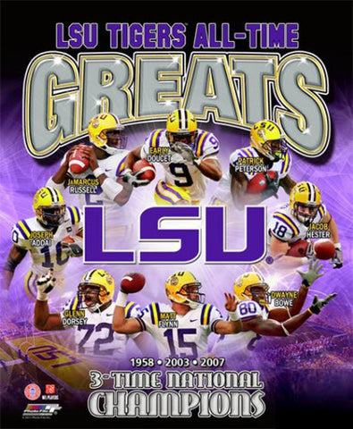 "LSU Tigers ""All-Time Greats"" Commemorative Print - Photofile Inc"
