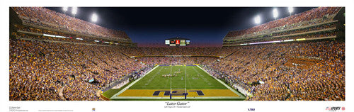 "LSU Tigers Football ""Later Gator"" Panorama - USA Sports 2007"