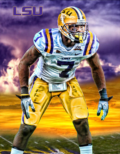 "Patrick Peterson ""Fearsome"" LSU Tigers Football Poster - Team Spirit"