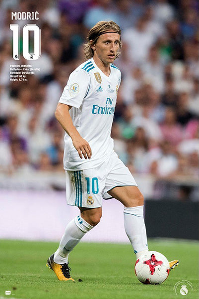 "Luca Modric ""Game Night"" Real Madrid CF Official La Liga Soccer Poster - G.E. (Spain)"