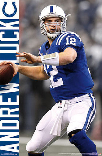 "Andrew Luck ""Cannon"" Indianapolis Colts NFL Action Poster - Costacos Sports"