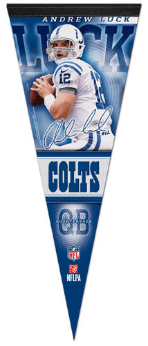 "Andrew Luck ""Signature Action"" Premium Felt Collector's Pennant - Wincraft 2012"