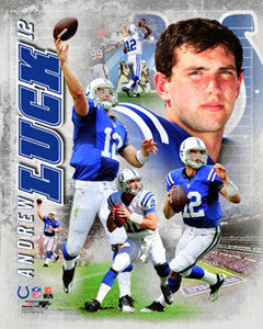 "Andrew Luck ""Superstar"" Indianapolis Colts Premium NFL Poster Print - Photofile 16x20"
