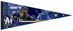 "Jonathan Lucroy ""Signature"" Milwaukee Brewers Premium Felt Collector's Pennant (LE /2012)"