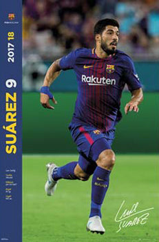 "Luis Suarez ""Signature Series"" FC Barcelona Official La Liga Soccer Action Poster - G.E. (Spain) 2017"