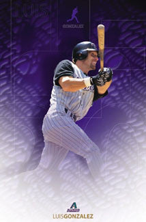 "Luis Gonzalez ""Snakeskin"" Arizona Diamondbacks Poster - Costacos 2002"
