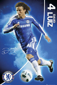 "David Luiz ""Signature"" Chelsea FC Soccer Poster - GB Eye Inc."