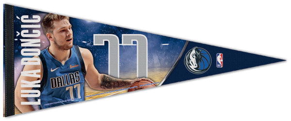 Luka Doncic Dallas Mavericks NBA Superstar Series Premium Felt Collector's Pennant - Wincraft