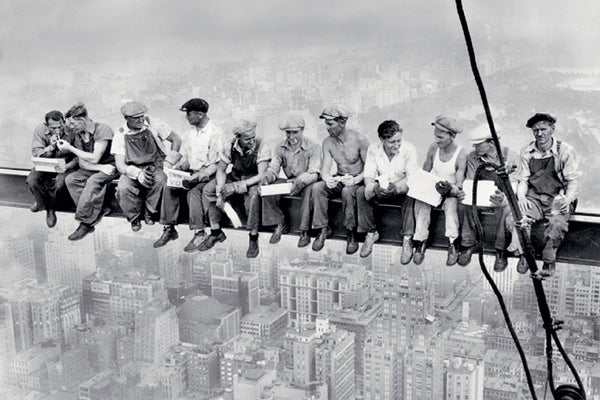 "Rockefeller Center 1932 ""Lunch on a Skyscraper"" Poster Print (Charles C. Ebbets) - Eurographics Inc."