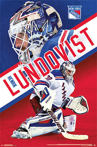 "Henrik Lundqvist ""Stone Wall"" New York Rangers NHL Action Wall Poster - Costacos Sports"