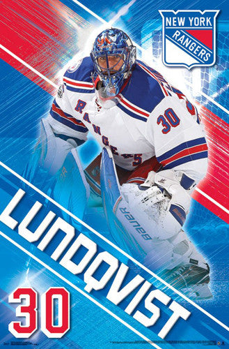 "Henrik Lundqvist ""The King"" New York Rangers Official NHL Hockey Wall Poster - Trends 2017"